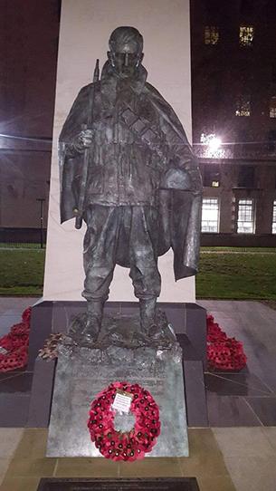 런던에 있는 한국전쟁 메모리얼.