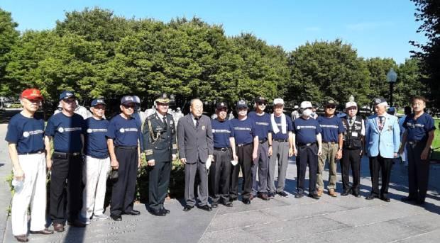 행사에 참여한 재향군인회 미 동부지회 회원들.