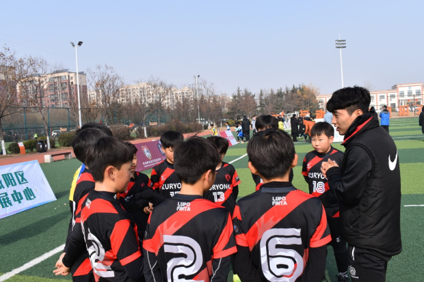 중국 대회에서 아이들과 시합 끝난 후.