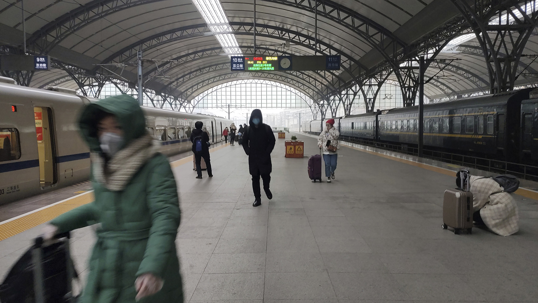 """""""武汉肺炎""""疫情恶化。图为武汉汉口火车站。(美联社)"""