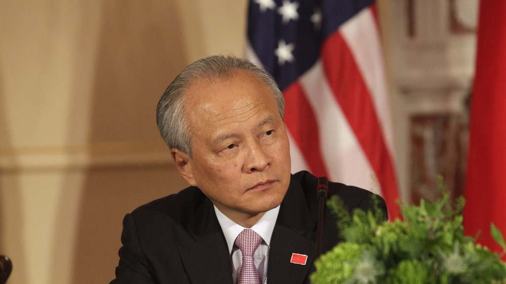 中国驻美大使崔天凯。(法新社资料图片)