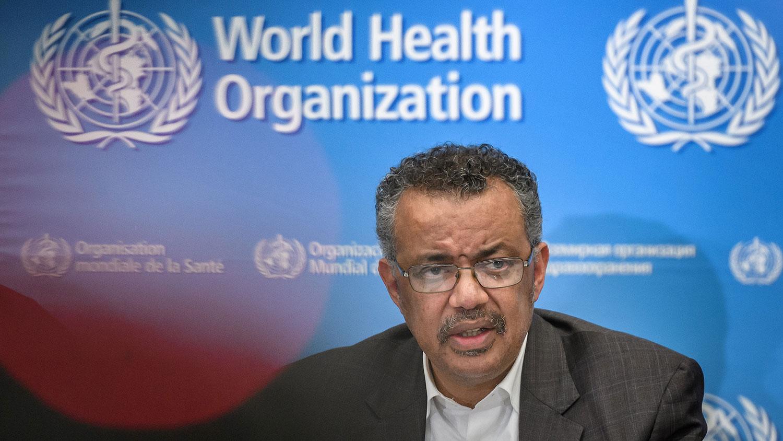世界卫生组织总干事谭德塞。(法新社)
