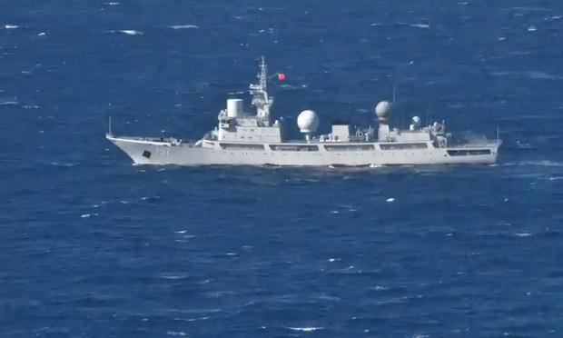 中国派两舰近距离侦察美澳军演