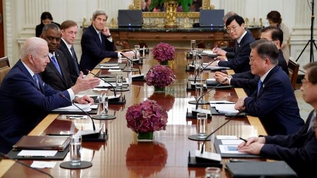 美韓峯會提臺海 拜登鼓勵文在寅對中國採取更強硬立場