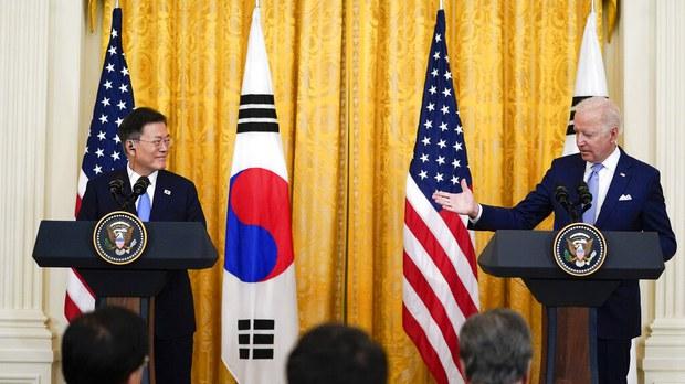 美韩首脑峰会:共同关切台海稳定、半岛无核化、南海自由航行等热点议题