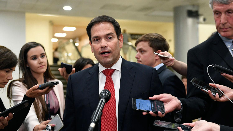 资料图片:美国参议院共和党籍议员鲁比奥(Marco Rubio)。(美联社)