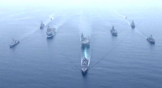 """日、美、法、澳""""ARC21""""軍演編隊進入東海"""