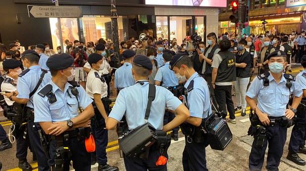 香港反送中兩週年: 警方劃封鎖區高度戒備