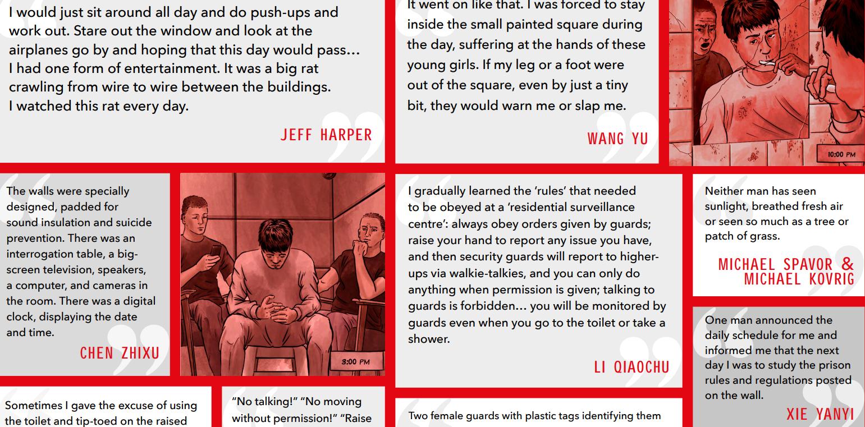 """國際人權組織""""保護衛士""""6月21日發佈最新報告:《囚禁:在中國指定居所監視居住祕密監獄內》。(截圖)"""
