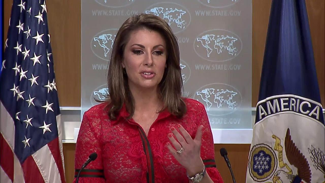 国务院发言人摩根·奥特加斯(Morgan Ortagus)。(视频截图)