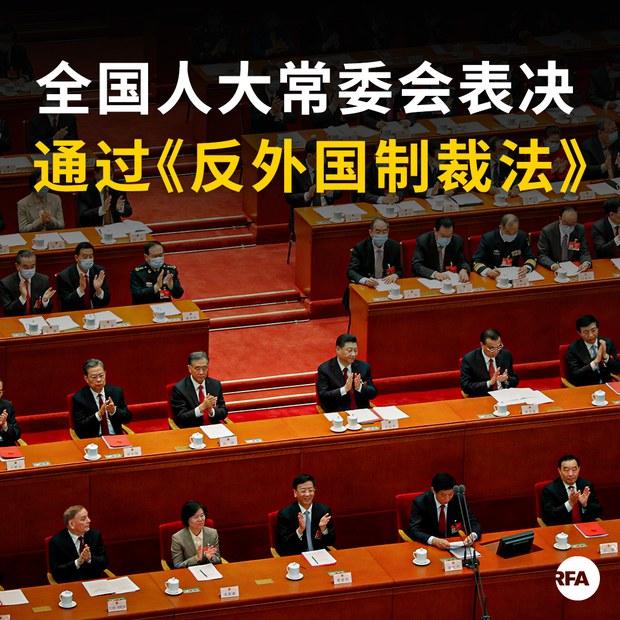 中国人大常委会表决通过《反外国制裁法》】