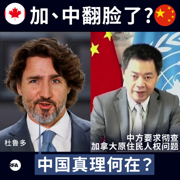 """中国召集 """"盟友""""  提请联合国调查加拿大人权问题"""