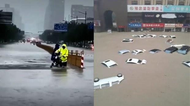 鄭州單日降雨量創多項歷史紀錄    多人失蹤或被困