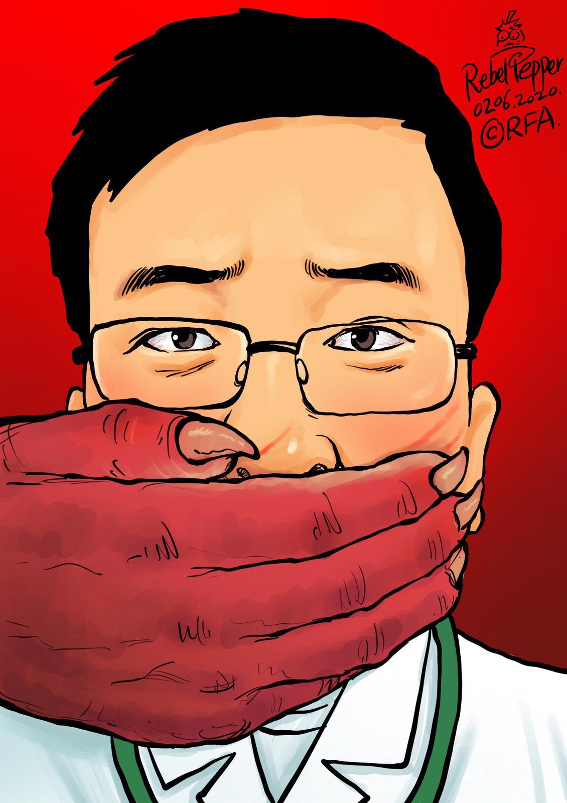 曾被训诫的武汉市中心医院眼科医生李文亮抢救无效去世。(变态辣椒)