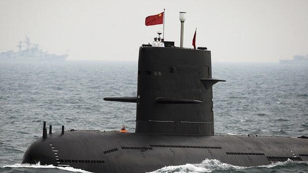 中国正在研发配备人工智能的新式无人潜艇。(美联社)