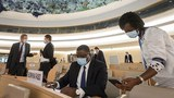 設在瑞士日內瓦的聯合國人權理事會正在進行投票(美聯社)