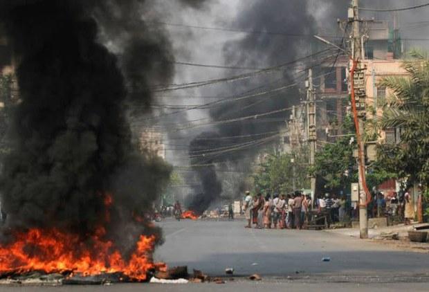 2021年3月27日,缅甸安全部队当天在全国各地杀害了90多人。(路透社)