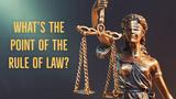 """""""依法治国(Rule of Law)的口号。"""