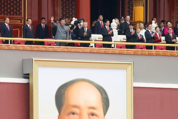 习近平在中共百年党庆活动上。(路透社)
