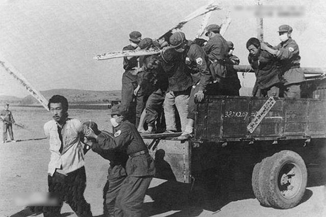 中共鎮反運動歷史圖片。(Public Domain)
