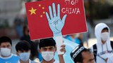 2020年10月1日,维吾尔族示威者在土耳其伊斯坦布尔抗议中国新疆政策。