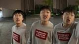 一個小粉紅破口大罵支持香港人士的樣子。(視頻截圖)