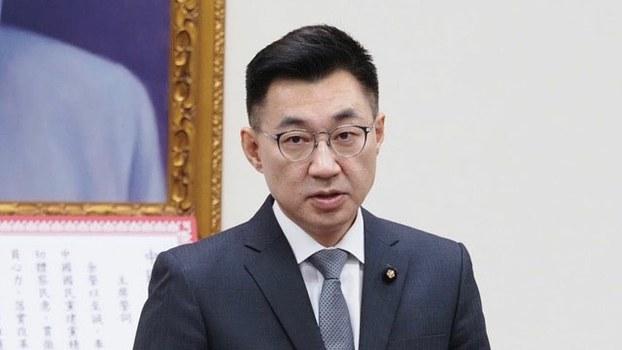 國民黨新任主席江啓臣。(記者 黃春梅攝)