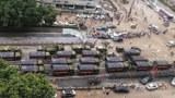 京廣北路隧道周邊遭中共軍方接管,連地方政府的救援人力也告撤出。