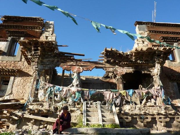 图说:我所怀旧之地:拉萨喜德林废墟。