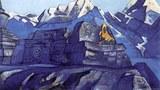 尼古拉斯·洛里奇画的宗喀巴大师。(唯色提供)