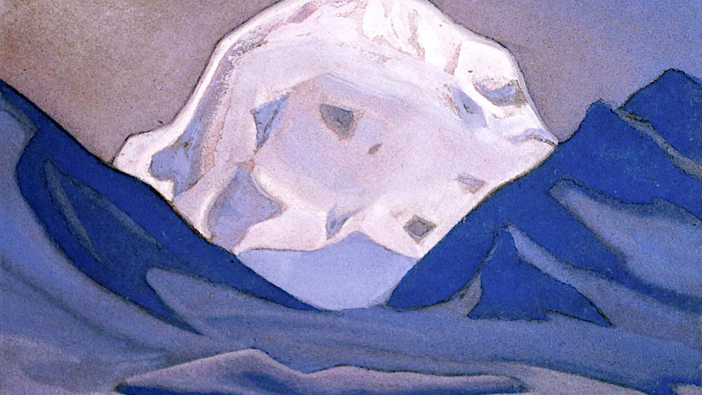 尼古拉斯·洛里奇画的圣山冈仁波齐。(唯色提供)