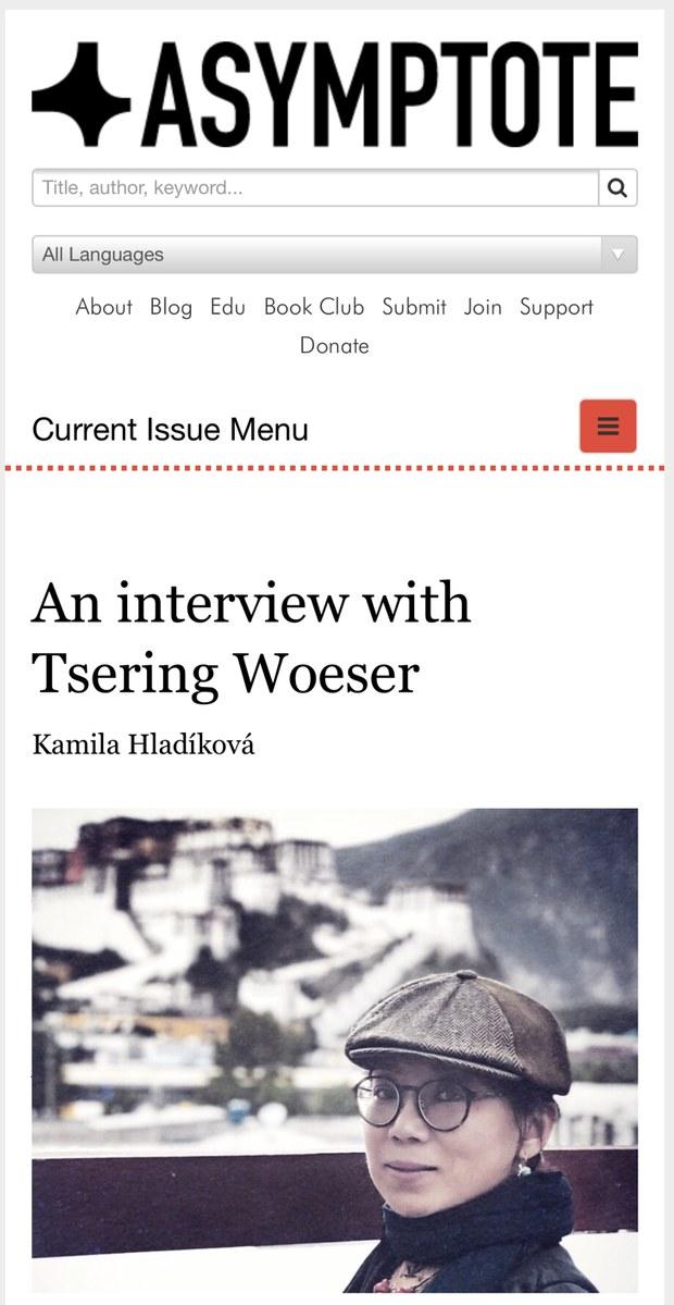"""评论   唯色:译者Kamila Hladíková对我的访谈:关于记忆、流亡及""""藏族文学""""(一)"""