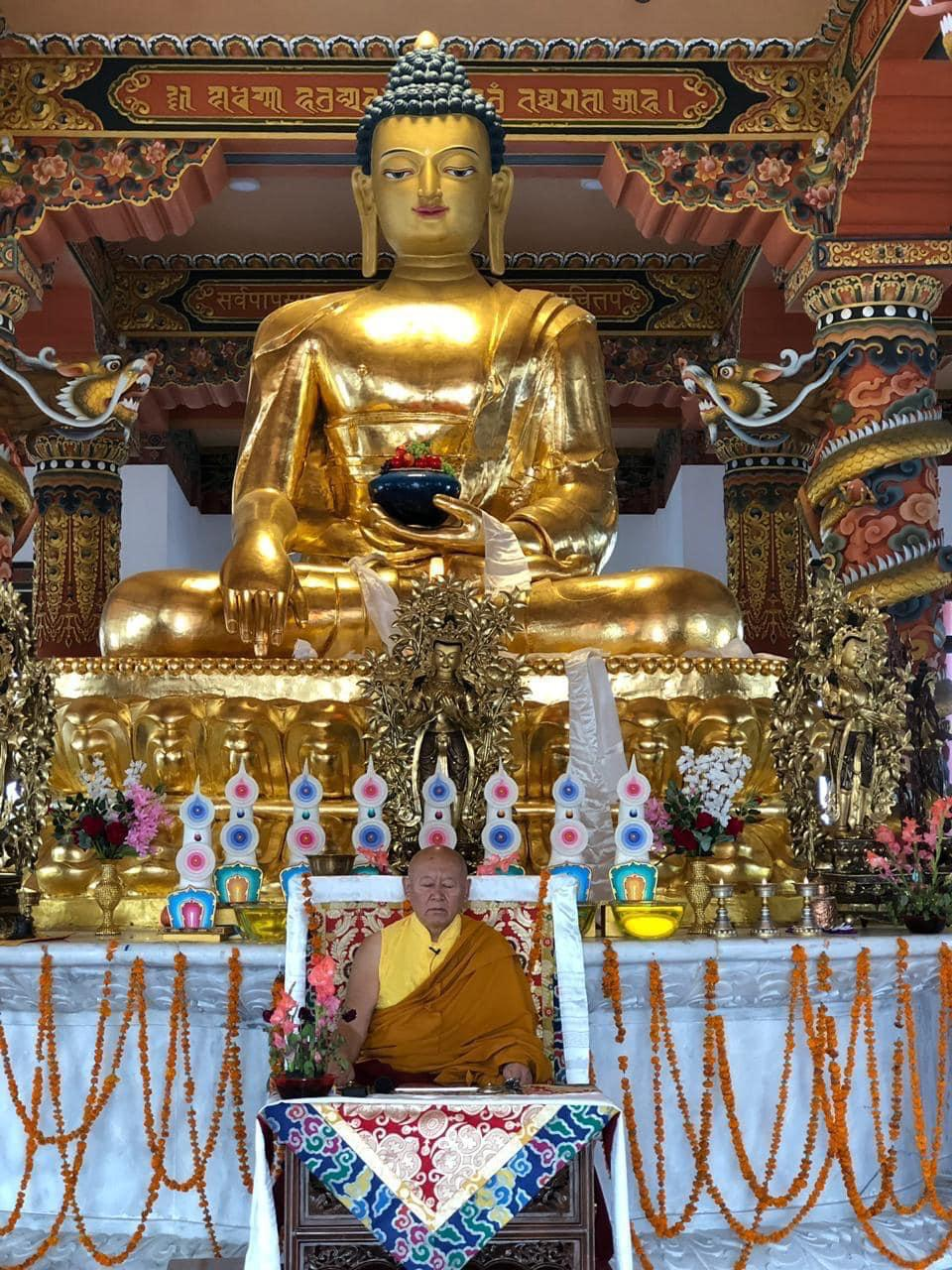 直贡法王在圣地舍卫城重现佛教荣光。(图片来自网络)