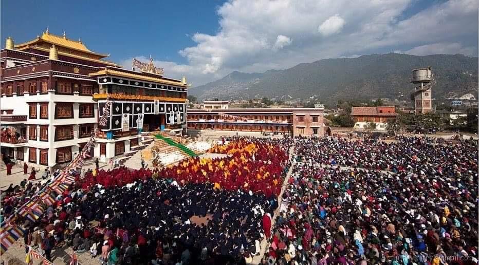 位于加德满都的仁钦林寺。(藏人提供)