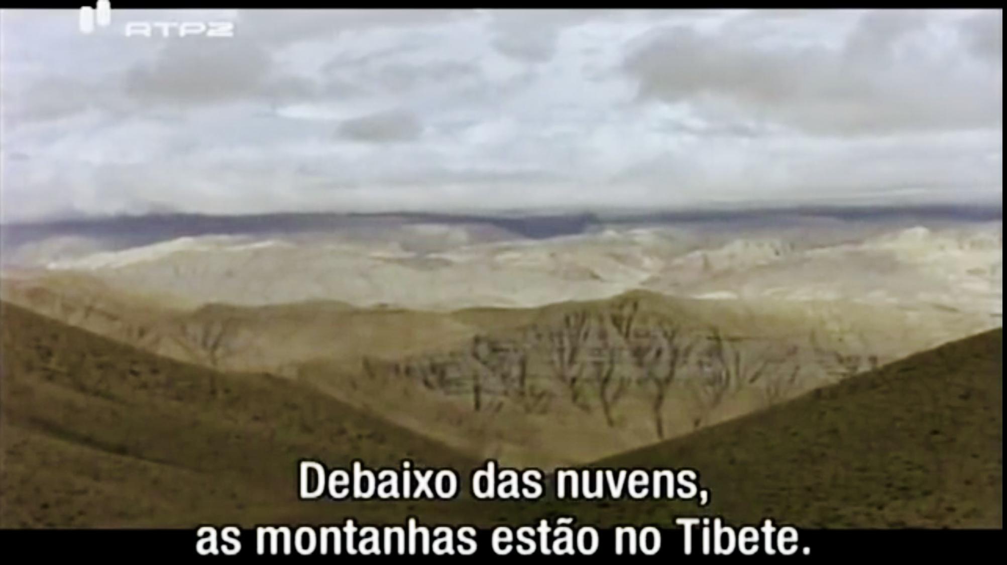 纪录片截屏,仁波切所见的西藏风景。(截图)