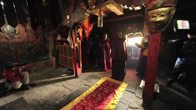 昆仲袞寺的古老面具。(圖片來自網絡)