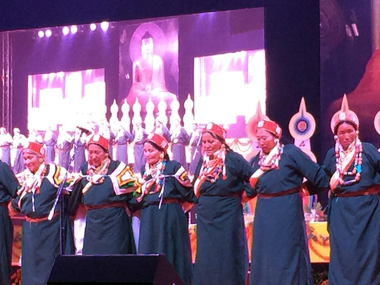 在直貢澈贊法王創辦的首屆舍衛城佛教文化節上的宣舞。(Limi藏人提供)
