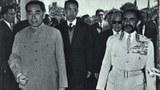 1964年1月30日中国访问埃塞俄比亚周恩来与海尔·塞拉西一世。