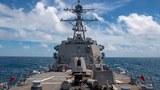 資料圖片:2020年8月18日,美國海軍伯克級神盾驅逐艦「馬斯廷號」以接近中國海岸線的區域穿越臺灣海峽。(圖/美軍太平洋艦隊臉書)
