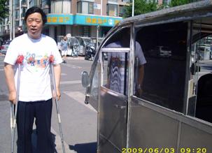 图片:北京维权人士刘安军,星期三晚被公安带到郊区。(志愿者提供)