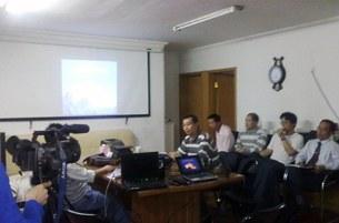 图片:北京维权律师去年九月召开陈光诚与计生维权研讨会。 (律师提供/丁小)