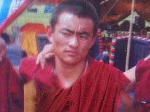 图片:8月14号被拘捕的四川阿坝县格尔登寺僧人洛桑桑杰。(达兰萨拉格尔登寺提供)
