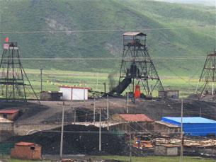 图片:青海刚察县沙柳河镇境内的采煤现场。(受访人提供)