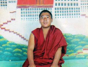 图片: 于10月1日被捕后失踪的赛康寺僧人丹增西热。 (受访人提供/记者丹珍)