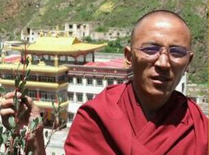 图片: 近期被判两年徒刑的赛康寺僧人索南英尼。 (受访人提供/记者丹珍)