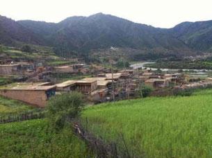 图片:自焚亡者贡布次仁出生地——甘肃省甘南州合作市勒秀乡格(音译)村。 (受访人提供)