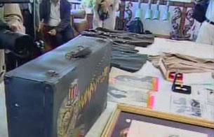图片:赠予中国的飞虎队部分文物(CK提供)