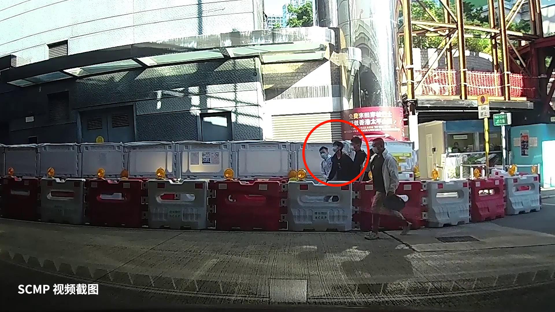 香港《南华早报》发布据说是钟翰林被捕一刻的视频