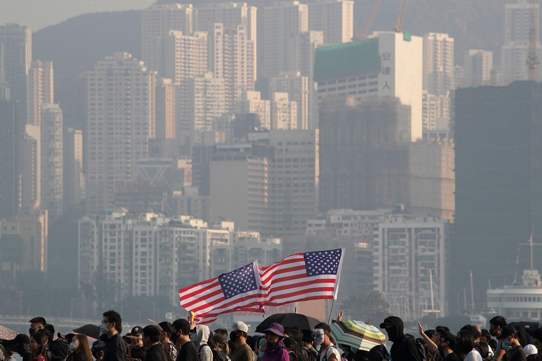 香港美商對國安法表憂慮 近四成美資商人計劃撤離。(美聯社資料圖片)