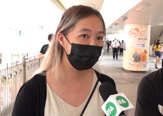 2021年6月9日,香港市民何小姐憶述,對於香港這兩年發生的事,感到痛心。(鄧穎韜 攝)